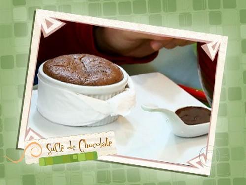 Suflê de Chocolate com Calda de Chocolate