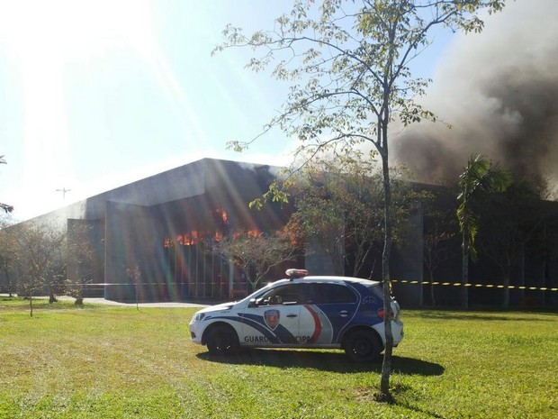 Bombeiros de várias cidades foram acionados (Foto: Daniel Cipriano/Divulgação)