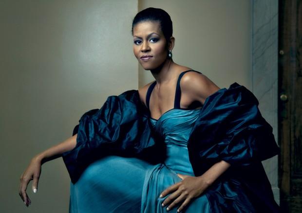 Michelle Obama em clique de Annie Leibovitz na Vogue US de março de 2009 (Foto: Reprodução)
