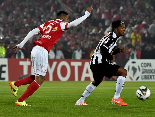 Ronaldinho Gaúcho Atlético-MG x Santa Fé (Foto: AFP)