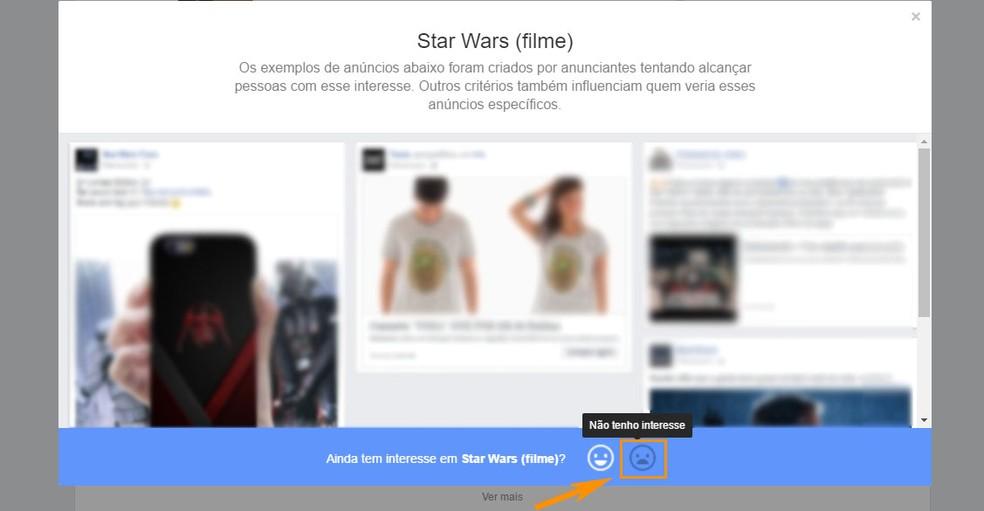Você também pode remover após ver sugestões de anúncios com o tema (Foto: Foto: Reprodução/Barbara Mannara)