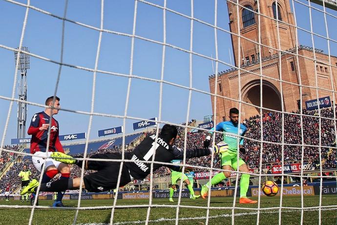 Gabigol marca para Inter, Bologna x Inter (Foto: EFE/EPA/Giorgio Benvenuti)