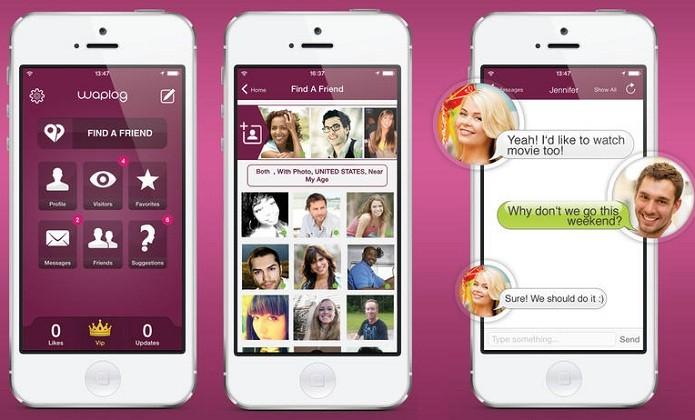 Faça novas amizades e até comece um namoro com Waplog (Foto: Divulgação/App Store)