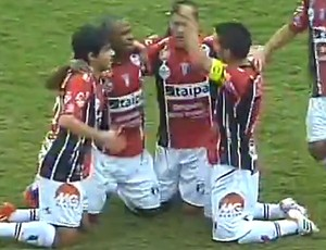 Frame, Joinville x Goias (Foto: Reprodução)