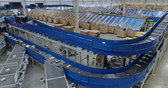 Máquina de triagem automatizada agiliza o processo de entrega das mercadorias (Foto: Divulgação)