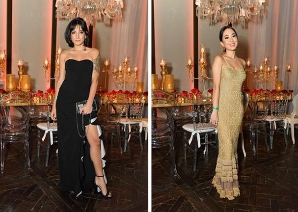 Nossas Carol Goulart e Larissa Kazumi escolheram seus vestidos na Dress&Go para o Prêmio Geração Glamour (Foto: Cleiby Trevisan)