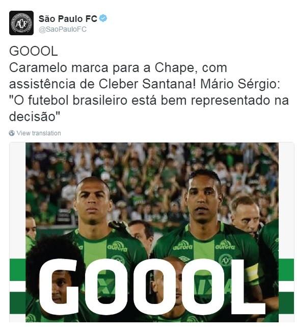 São Paulo fez homenagem aos seus ex-jogadores (Foto: Reprodução/Twitter)
