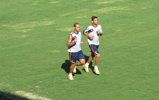 Leandro Eusébio e Anderson, Treino do Fluminense (Foto: Jorge Natan / Globoesporte.com)
