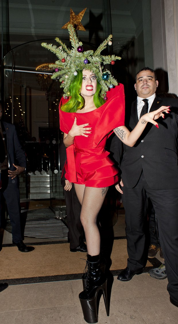 Lady Gaga em Londres, na Inglaterra (Foto: Alex Davies/ Getty Images)