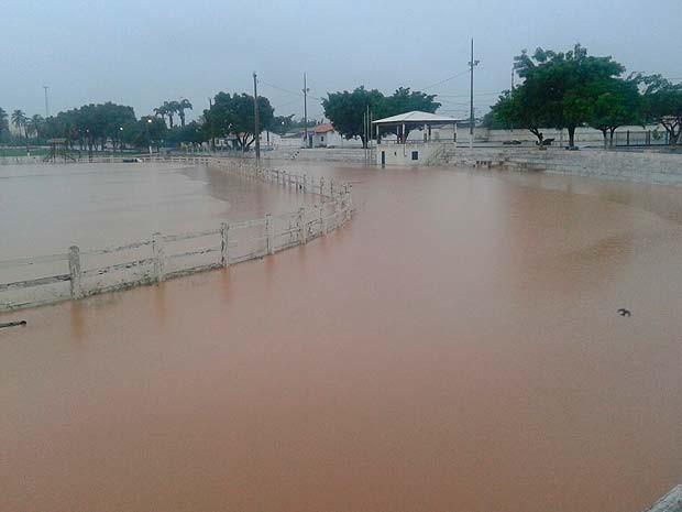 Alagamento em Barreiras, no oeste da Bahia (Foto: Divulgação/ Sema)