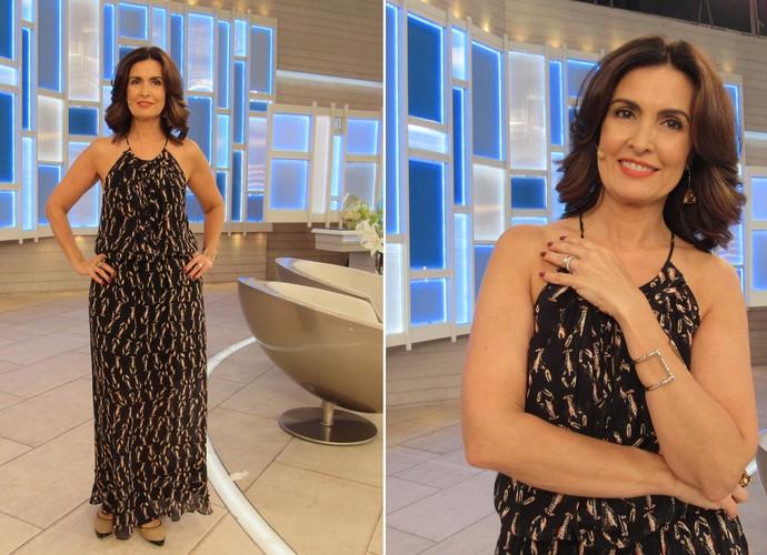 Veja detalhes do look da apresentadora no dia 13/11 (Foto: Priscilla Massena/Gshow)