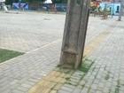 Postes atrapalham piso destinado a cegos no Parque Lagoas do Norte