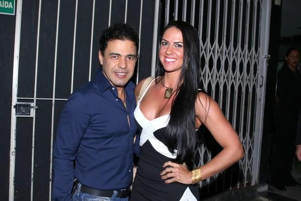 Zezé Di Camargo com a namorada, Graciele Lacerda (Foto: Thiago Duran/ Ag. News)