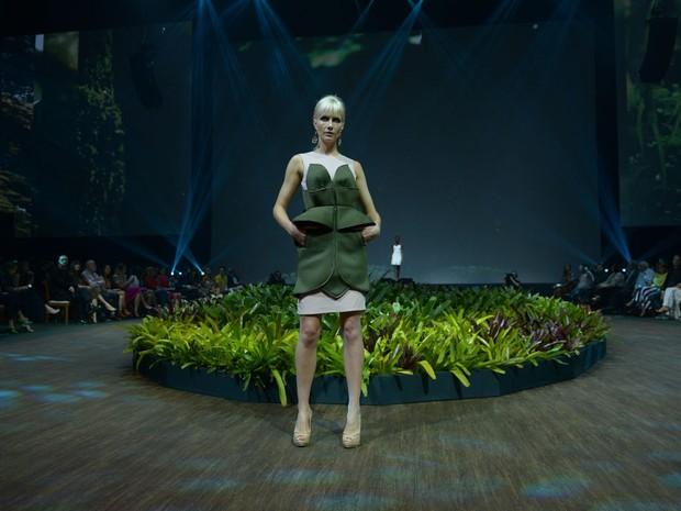 Ana Cláudia Michels desfila em evento de moda em Belo Horizonte, Mina Gerais (Foto: Francisco Cepeda/ Ag. News)