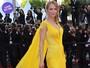 Look do dia: Uma Thurman aposta no amarelo em première