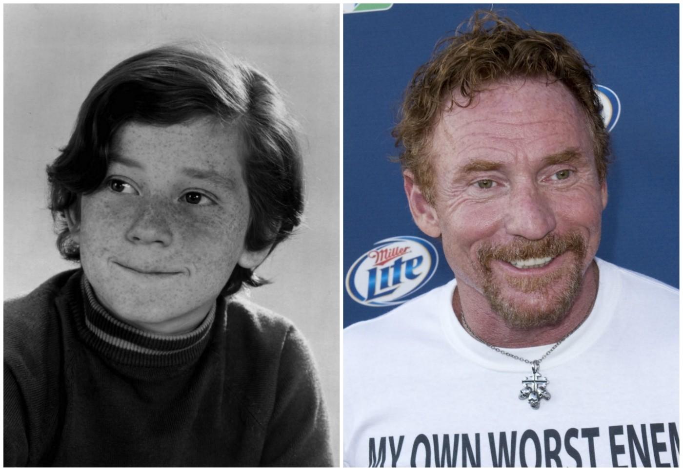 Dos 11 aos 15 anos, Danny Bonaduce atuou na série 'The Partridge Family' (1970–1974). Agora está com 54 anos. (Foto: Divulgação e Getty Images)