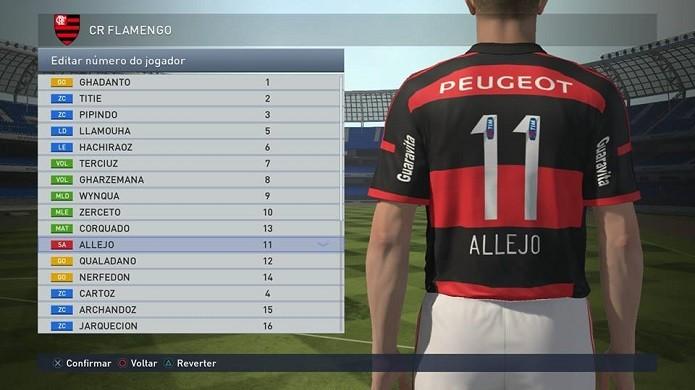 Allejo é o camisa 11 da equipe (Foto: Reprodução/Thiago Barros)