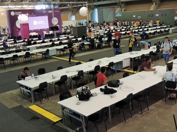 Campus Party Recife começa nesta quinta e segue até o domingo (26). (Foto: Marina Barbosa / G1)