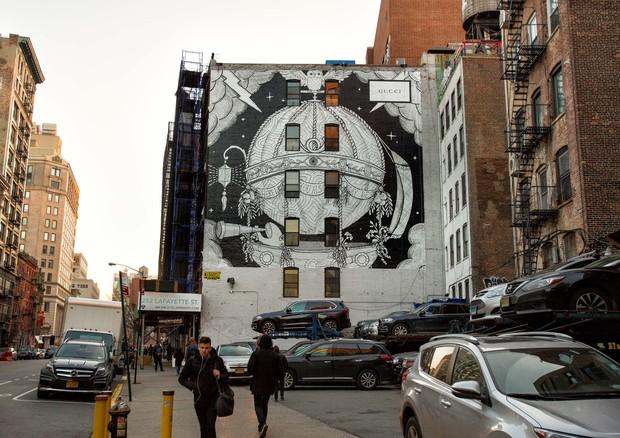 Mural da Gucci em NY (Foto: Divulgação)