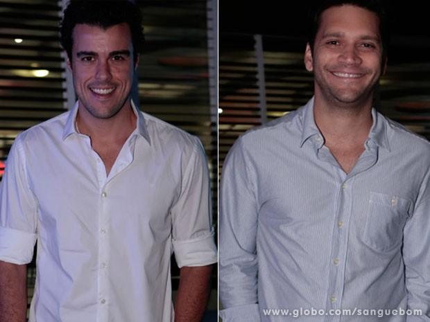 Uau! Os gatos Joaquim Lopes e Armando Babaioff  (Foto: Sangue Bom / TV Globo)