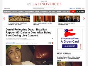 'LA Times' em nota sobre a morte de Daleste (Foto: Reprodução / 'LA Times')