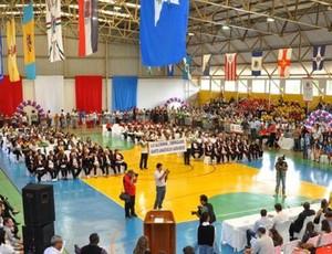 Presidente Venceslau recebeu os Jogos Regionais do Idoso. Evento reuniu mais de 1.000 atletas (Foto: Divulgação)