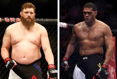 MONTAGEM - UFC Antonio Pezão e Roy Nelson  (Foto: Editoria de Arte)