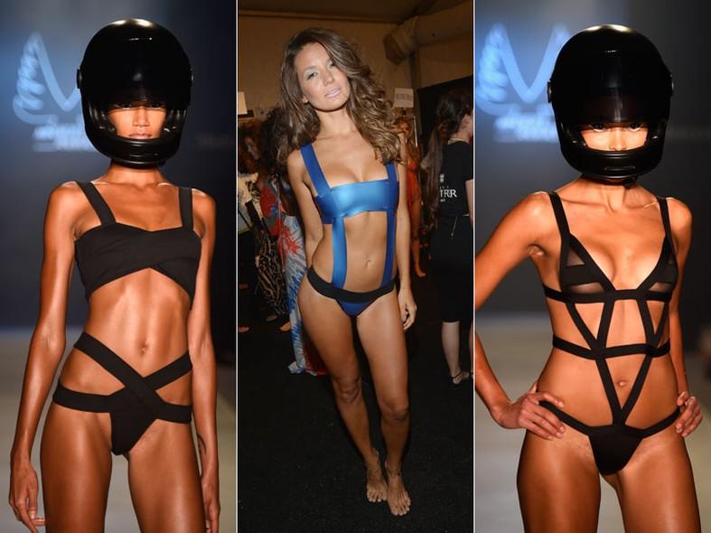 O futurismo das faixas em modelos bondage