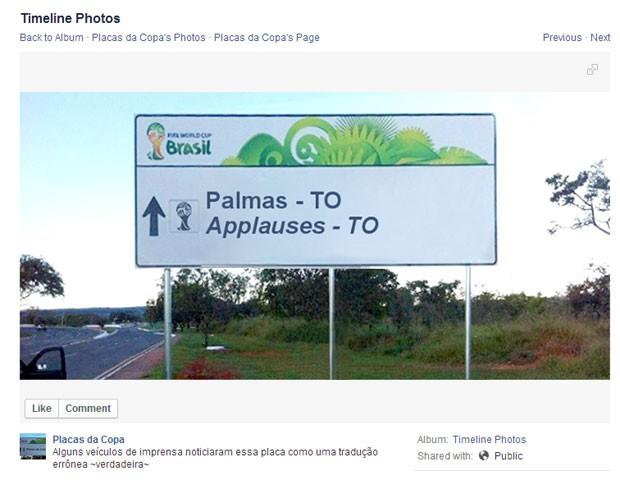 Palmas (Foto: Reprodução/Facebook)