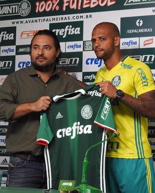 Alexandre Mattos e Felipe Melo Palmeiras (Foto: Felipe Zito)