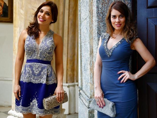 Sabrina Petraglia e Adriana Prado exibem os looks de Itália e Suzana (Foto: Raphael Dias/ Gshow)