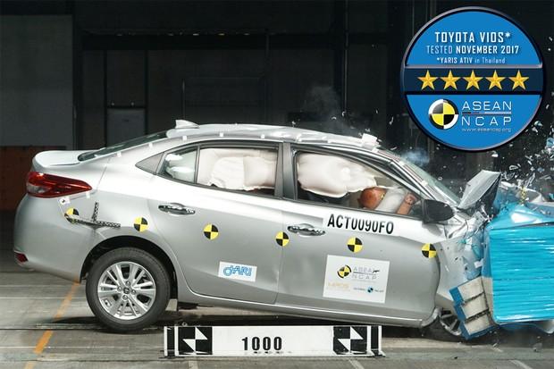 Toyota Yaris recebe nota máxima de segurança no Asean NCAP (Foto: Divulgação)