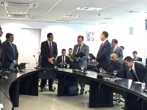 Novo secretário de Defesa Social do estado, Angelo Gioia, toma posse (Foto: Ennio Benning/Governo de Pernambuco)