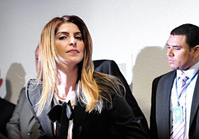 Andressa Mendonça se recusa a falar na CPI (Foto: Geraldo Magela/Agência Senado)