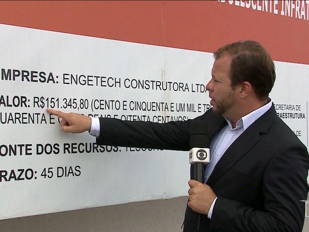 Depois de aluguel, Governdo do Maranhão gasta mais para adequar prédio para DAI e outros órgãos (Foto: Reprodução/TV Mirante)