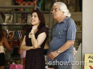 Gustavo e Matildam comentam sobre o casal  (Foto: Inácio Morais / TV Globo)
