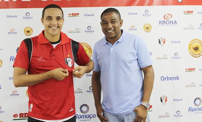 Thiago Medeiros e César Sampaio (Foto: Divulgação/Assessoria JEC)
