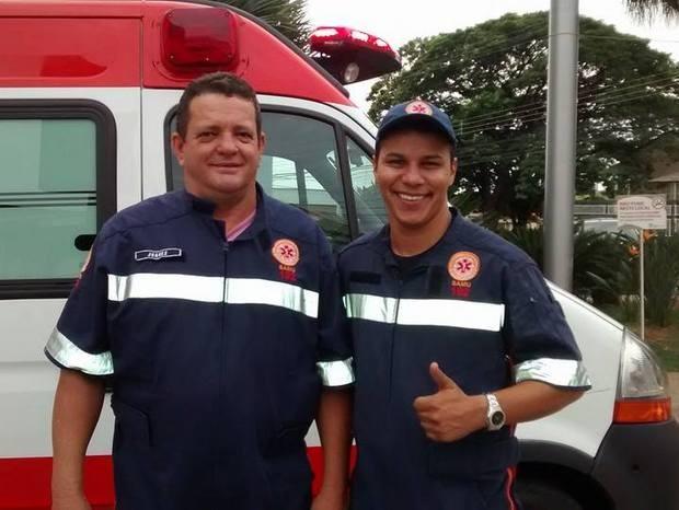 Juarez de Castro e João Batista Correa Neto, do Samu de Piracicaba (Foto: Juliana Baldan/Samu)