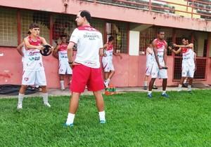 Guarani-MG treina no Farião (Foto: Guarani-MG/Divulgação)