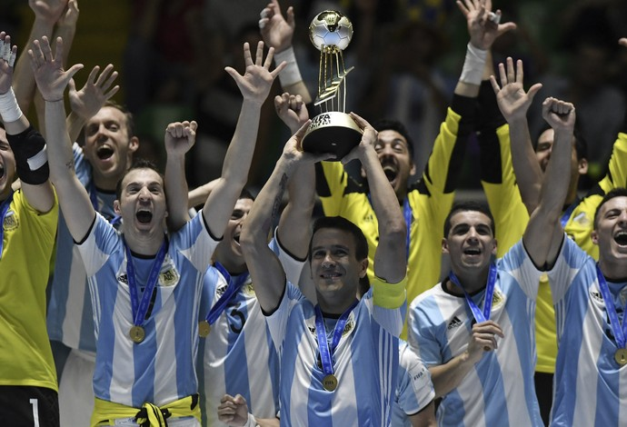 Fernando Wilhelm Argentina campeã mundial de futsal (Foto: Gabriel Aponte/STR/Getty Images)