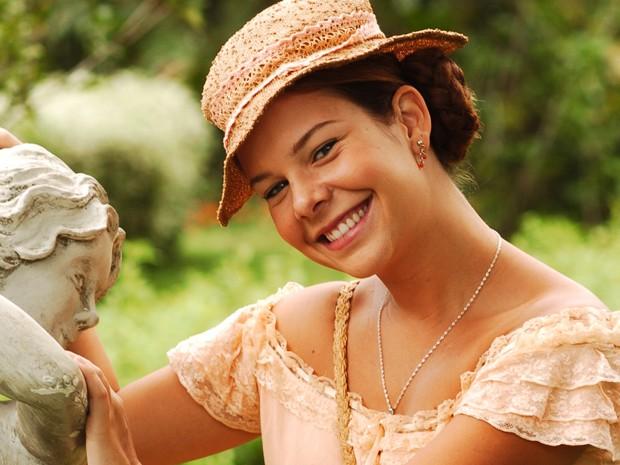Na novela Alma Gêmea, de 2005, Fernanda Souza interpretou a espevitada Mirna, que sonhava em se casar. (Foto: Cedoc / TV Globo)