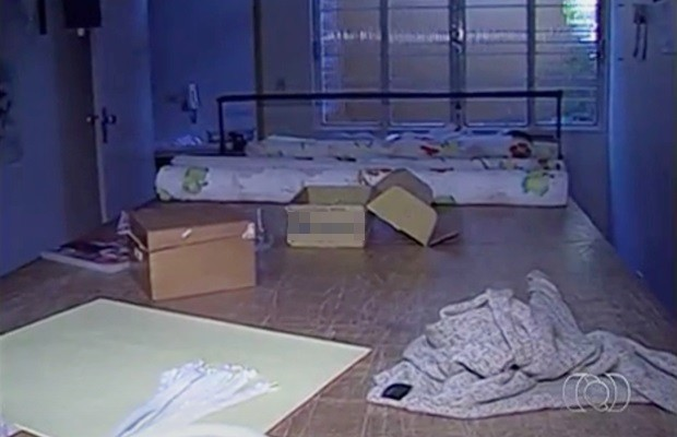 Martha e Henrique foram mortos no mesmo imóvel em que funcionava a confecção da empresária, em Goiás (Foto: Reprodução/TV Anhanguera)