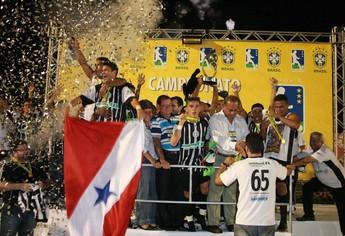 São Raimundo conquistou a Série D do Brasileiro de 2009 (Foto: Marcelo Seabra/O Liberal)