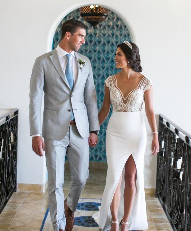 Michael e Nicole Phelps (Foto: Reprodução)