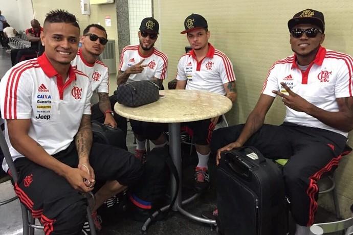 Jogadores do Flamengo (Foto: Reprodução/Twitter)