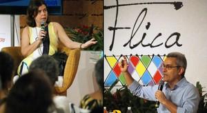 Mário Magalhães e Anna Baptista opinam sobre biografias na Flica (Egi Santana/G1 BA)