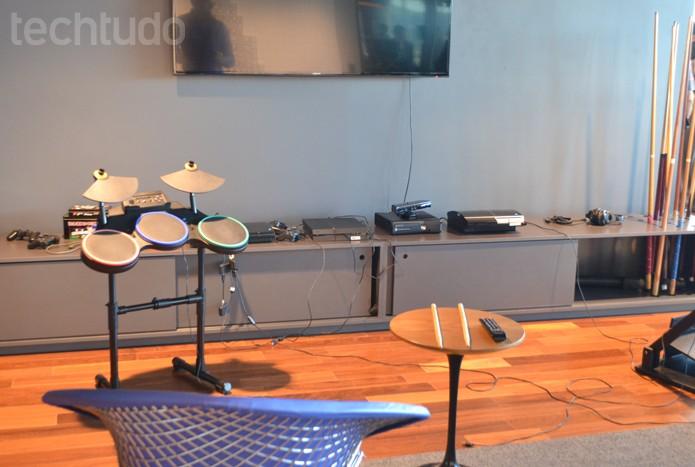 Além da cozinha e áreas livres de café e biblioteca, Google libera videogame em BH (Foto: Melissa Cruz / TechTudo)