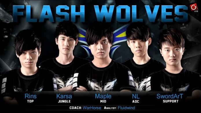 Os jogadores atuais do time Flash Wolves (Foto: Reprodução/Esportspedia)