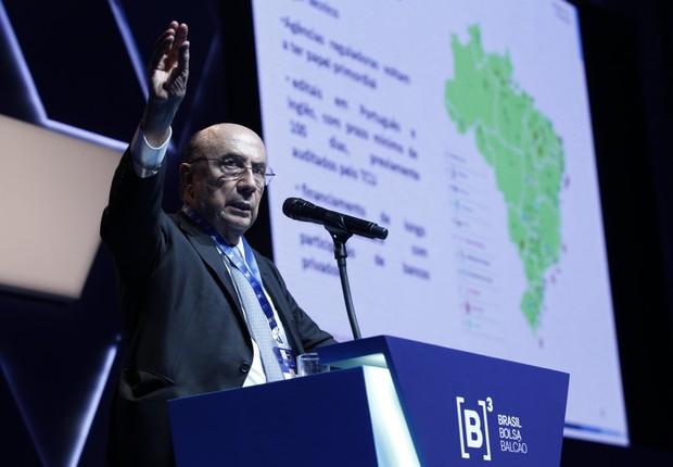 Meirelles no 8º Congresso Internacional de Mercados Financeiro e de Capitais (Foto: Divulgação/B3)