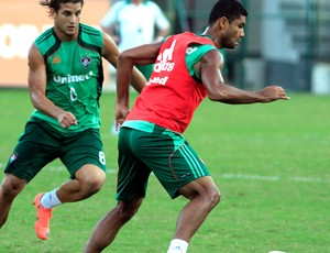 Rafael Moura e Gum treino Fluminense (Foto: Nelson Perez / Fluminense F.C.)
